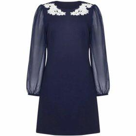 Yumi Applique Flower Detail Tunic Dress