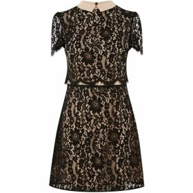 Oasis Lace Collared Shift Dress
