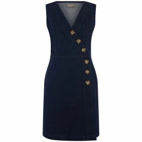 Oasis Button Detail Structured Dress