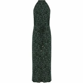 Oasis Animal Print Halter Dress