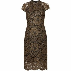 Phase Eight Janie Metalllic Corded Lace Dress