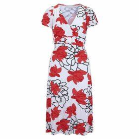 Havren Collette Red Print Dress