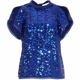 Damsel in a Dress Tally Sequin Blouse