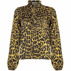 Damsel in a Dress Aimee Animal Print Blouse