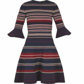 Ted Baker Striped Ottoman Shift Dress