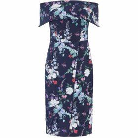 Oasis Bloom Bardot Pencil Dress