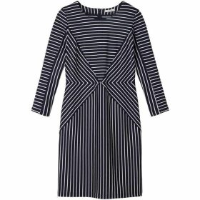 Sandwich Contrast Stripe Dress