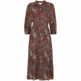 Whistles Abstract Animal Print Dress