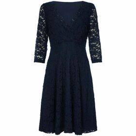 Mela Floral Lace Knee Length Skater Dress