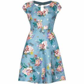 Yumi Floral Patterned Jacquard Dress