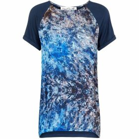 Damsel in a Dress Satelitte print top