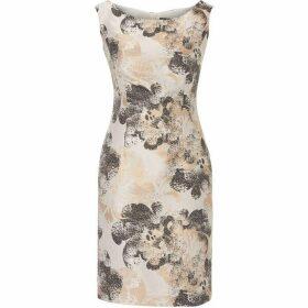 Vera Mont Printed satin dress