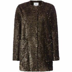 Suncoo Elvie Long Sleeved Sequin Textured Dress Coat