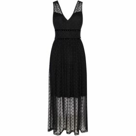 Guess V Neck Dress With Star Print
