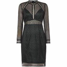 Bardot Lace long sleeve bodycon dress