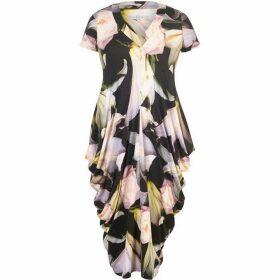 Chesca Lily & Rose Print Jersey Drape Dress