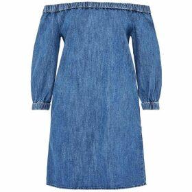 Hallhuber Off-The-Shoulder Denim Dress