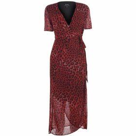 Bardot BD Leop Wrap Dress Ld92