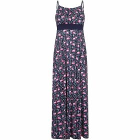 Yumi Flamingo Jersey Maxi Dress