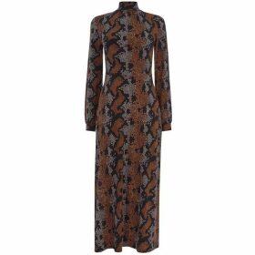 Warehouse Snake Print Maxi Dress