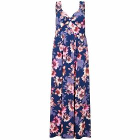 Mela London Curve Floral Printed Maxi Dress