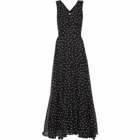 Gina Bacconi Calandra Chiffon Maxi Dress