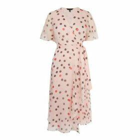 Karen Millen Polkadot Midi Dress