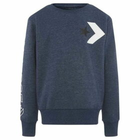 Converse Striped Wordmark Fleece Sweatshirt