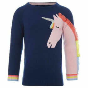 Little Joule Gee Gee Unicorn Jumper