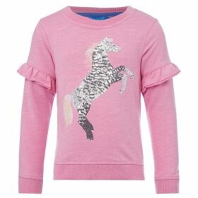 Little Joule Tiana Sequin Unicorn Sweatshirt