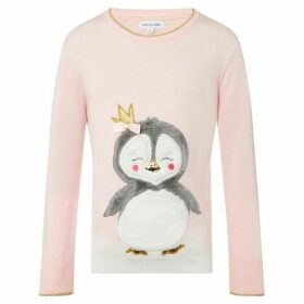 Rose and Wilde Party Penguin Fluffy Xmas Jumper