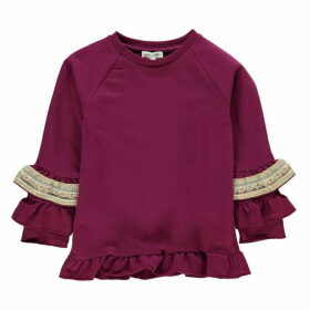 Rose and Wilde Nessa Frill Sleeve Jumper With Sequin Trim