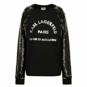Karl Lagerfeld Sequin Skool Sweatshirt