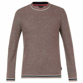 Ted Baker Curlywu Ls Twisted Half Cardigan Crew