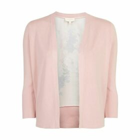 Ted Baker Elowsi Raspberry Ripple Woven Back Cardigan