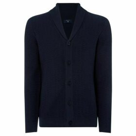 Gant Button thru Herrungbone Cardigan Knit
