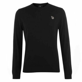 PS by Paul Smith Zebra Logo Crew Neck Jumper