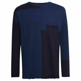 French Connection Indigo Patchwork Knit Jumper