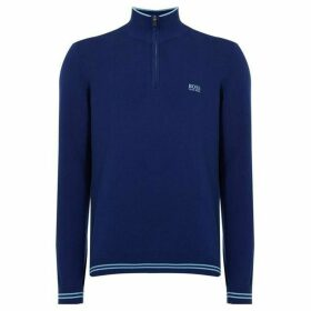 Boss Zimex Cotton Quarter Zip Funnel Neck Jumper