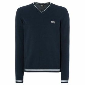 Boss Vimex Cotton Stretch V-Neck Jumper