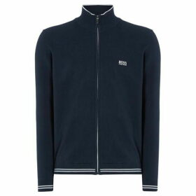 Boss Zomex Cotton Zip-Up Funnel Neck Jumper