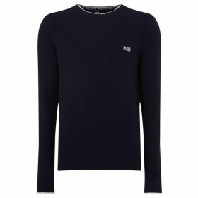 Boss Ridney Cotton Crew Neck Textured Jumper