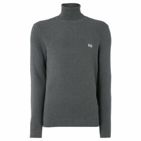 Boss Rodney Cotton Roll Neck Textured Jumper