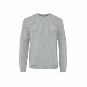 French Connection Cotton Wool Split Crew Neck Jumper