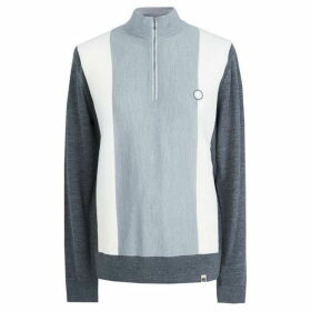 Pretty Green Zip Funnel Neck Jumper