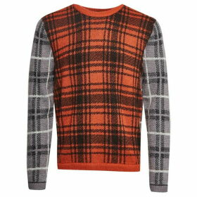French Connection Superfine Mohair Check Jumper