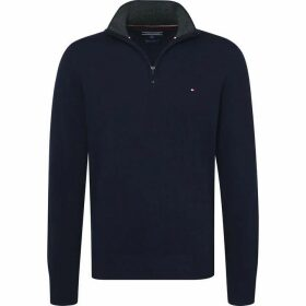Tommy Hilfiger Lambswool Zip Mock Sweater