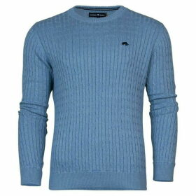 Raging Bull Crew Neck Cable Knit Jumper