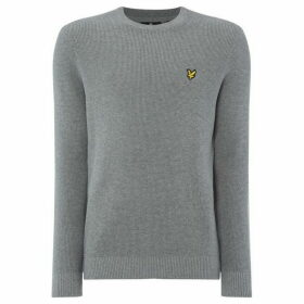Lyle and Scott Waffle Knit Logo Jumper