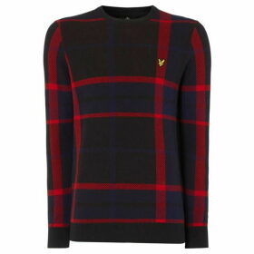 Lyle and Scott Tartan Logo Crew Neck Jumper